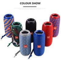 Wholesale TG117 Bluetooth Outdoor Speaker Waterproof Portable Wireless Column Box Support TF Card FM Radio Aux Input DHL