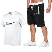 Wholesale Designer Men Summer Tracksuit Tee shirts homme Set Mens T Shirt Shorts Pants Men Casual two piece outfits Tee Shirts shorts Size S XL T365