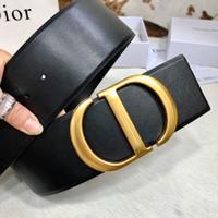 Wholesale gold black onyx for sale - Group buy Hot new Fashionable Designer Belts Luxury Belt Brand Belts Womens Smooth Buckle Black Brown Optional Belt Width mm High Quality fB