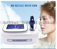 Wholesale needle machine for skin resale online - Skin Care mesotherapy machine RF Microneedle Machine Gun for no needle mesotherapy Face Lift Wrinkle Remover Skin Rejuvenation
