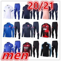 Wholesale 2020 mens trainers soccer tracksuit mens soccer tracksuit football tracksuit football training suit jacket pants tracksuits