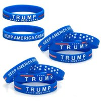 Wholesale 3 DHL SHIP Election Silicone Bracelet US President General Election Trump Bangle Soft Sport Band Keep America Great Wristband