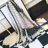 Wholesale silk polyester square hijab for sale - Group buy Big Size Women Satin Square Scarf Polyester Silk Scarves Flower Shawl Hijab Fashion Sunscreen Shawls
