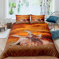 Wholesale 3d bedding set dolphins resale online - 3D Duvet Cover Sets Blue Sea Dolphin Quilt Covers Comforter Case Set Bedding Set King Full Twin Double Single Size Bed Linens