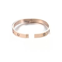 HOT 316 stainless steel bangle luxury designer jewelry women bracelets 18k love bracelet with bag wedding gold chains for men