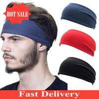 bandeaux hommes achat en gros de-Hot Sale Headband Absorbent Cycling Yoga Sport Sweat Headband For Men and Women Yoga Hair Bands Head Sweat Bands Sports Accessories