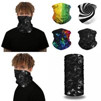 Wholesale tube bandanas for sale - Group buy Outdoor Bandanas D Cycling Scarf Flash Illusion Neck Gaiters Camping Mouth Face Protection Hiking Scarves Men Tube Bandana
