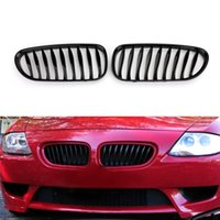 bmw z4 al por mayor-Areyourshop coche Negro brillante delantero de la parrilla parrilla en forma para 2003-2008 BMW E85 E86 Z4 Coupe Convertible Car Auto Parts Accessories
