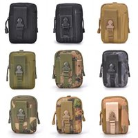 Wholesale molle waist pack resale online - 12x4x18cm Outdoor Sport Waist Bag Army Fan Phone Pocket Hanging Bags Camouflage Molle Accessory Pack Multi Function Colorful Male yl B2