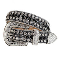 Wholesale rhinestone belt buckle for sale - Group buy Western Cowgirl and Cowboy Bling Bling Swarovski Rhinestones Belt Studded Belt Removable Buckle for Women and Men