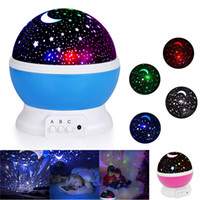 Wholesale rotating star moon lamp for sale - Group buy Night Light Projector Degree Romantic Room Rotating Star Projector Starry Moon Sky Night Projector Kid Bedroom Lamp For Christmas