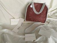 Wholesale plain sling bag for sale - Group buy Mini White Slings Stella Mccartney Women Shoulder Bag PVC Leather Hasp Closure Flap Interior Pocket High Quality Totes cm