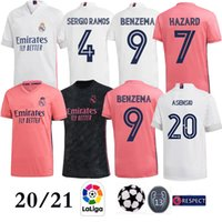 Wholesale kits homes resale online - 2021 Real Madrid home HAZARD Soccer Jersey Thai Top quality BALE ASENSIO Man Football shirt MODRIC Marcelo Third Kit soccer jersey