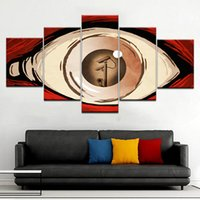 Wholesale home decorating art paintings resale online - Frame Panels Wall Art Abstract Eyes Wall Pictures Decorate Living Room Modern HD Canvas Print Painting Home Decor