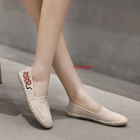 Wholesale loafers for womens resale online - Womens Slip On Flat for Women Fashion Sneakers solid color Loafers Espadrilles Comfort Driving Holiday Shoe cv1