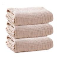 COSPOT Newborn Muslin Blanket Bath Towel Bebes 100% Organic Cotton 6 Layers Gauze Baby Swaddle Blankets Hold Wraps 2020 New 45