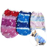 Wholesale old shoes new resale online - Hot Sell Old Flower Printed Dog Vest Fashion Dogs Cats Outdoors Clothes Teddy Schnauzer Bulldog Pets Vests