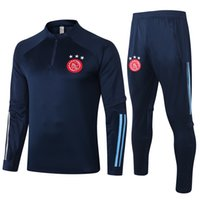 Wholesale full sleeve football jersey set for sale - Group buy 2021 Ajax adult soccer jacket PROMES long sleeve ajax tracksuit Soccer Jersey VAN DE BEEK NERES Training Polo Football Tracksuit Sets