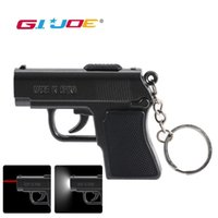 Wholesale infrared keychain resale online - Led keychain light new mini COB pistol shape modes gun infrared light built in battery waterproof portable lantern