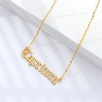 Wholesale vintage zodiac signs for sale - Group buy 2020 Hot sale vintage women jewelry real gold plated zodiac sign pave inlay shiny zircon pendant necklace