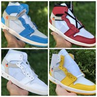 Wholesale eva powder for sale - Group buy 2020 POWDER BLUE High Basketball Shoes s Yellow blue red White Leather Designer Mens Women High Athletic Sport Sneaker Desginer shoes