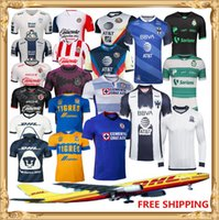 Wholesale soccer flashing resale online - DHL Club America soccer Jersey Tijuana Chivas Tigres UANL Laguna UNAM football shirt Size can be mixed batc