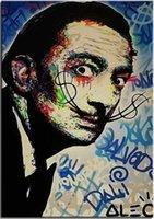 Wholesale canvas oil paintings dali resale online - Alec Monopoly Graffiti art Salvador Dali Home Decor Handpainted HD Print Oil Painting On Canvas Wall Art Canvas Pictures
