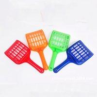 Wholesale plastic spades shovels resale online - Pet Litter Shovel Plastic Pet Fecal Cleaning Spade With Handle Durable Thicken Cat Litter Scoop Pets Supplies Colors DHB637
