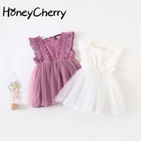 Wholesale korean clothing for babies resale online - Super Occidental Korean Sacred dress Princess dress Baby Dress Baby Girl Clothes Girls Dresses For Party And Wedding T200709