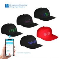 Wholesale nationals cap for sale - Group buy XCfAk Multi national language for trade multi function intelligent wearable Bluetooth LED display cap Multi national language for trade mult