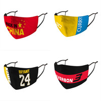 Ice silk Basketball Face Masks Protective Mask ultraviolet-proof Dustproof Riding Cycling Sports Letter Printing Mouth Masks Unisex Outdoor