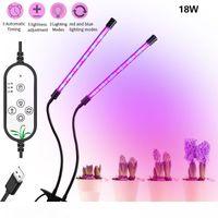 Wholesale leds grow light resale online - USB LED Grow Light W LEDs W LEDs Mode Adjustable Plant Grow Lamp Red Blue Tube Light