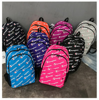 Wholesale trendy backpacks for sale - Group buy Designer Back pack Unisex Champions Letter trendy Shoulder Bag Backpacks Canvas Large Capacity Travel Students School Laptop Bag B71304