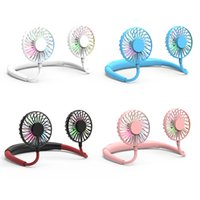 Wholesale gear best for sale - Group buy New Foldable Neckband Mini Neck Fan USB Cooling LED Neck Fan for Camping Tourism Best Gift Kids Summer Cooler Outdoor with aromatherapy