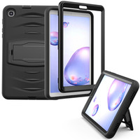 Wholesale ipad rubber shockproof case resale online - Tab A Shockproof Silicone Case with Bracket for Samsung Galaxy Tab A T307 T307U Rubber Cover