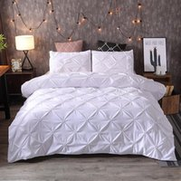 rainha de consolador de ouro preto venda por atacado-42Simple cor sólida Bedding Set Preto edredon cobrir Define Branco Rei Queen Size ouro Quilt Grey Consolador Covers 3Pcs 260x230