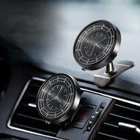 Wholesale car outlet phone holder online – Magnetism Car Decoration Clock Car Dashboard Air Outlet Phone Holder Auto Clock Adjustable Universal Accessories