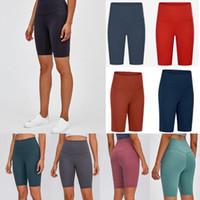 yoga women designer womens workout gym wear lu 68 solid color sports elastic fitness lady overall full tights short leggings 26qda590af#