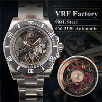 Wholesale modified auto for sale - Group buy VRF Factory L Steel Best Version Sub Andrea Pirlo Modified RM027 Carbon Bezel Skeleton Cal Automatic Movement Mens Watches