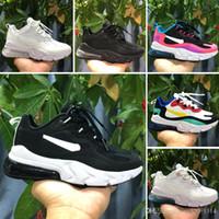 Wholesale shoes size for children resale online - 2019 V2 React Bauhaus TD Kids designer shoes For Boy Girls Running Shoes Hyper Pink Bright Violet Toddler Children Sneakers Size