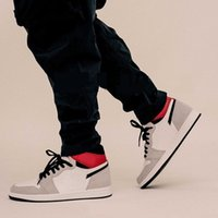 Wholesale high sneakers online resale online - New Fashion Style Backetball Shoes Online Women Men High Light Smoke Grey White Jumpman Sport Running Trainers Sneakers Newest
