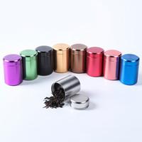 65*45mm Mini Small Tea Caddy Metal Tin Jar Storage Boxes Candy Case Organizer Box 9 Colors Can Do Logo