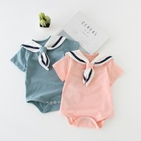 Wholesale baby clothes bag for sale - Group buy New Born Baby Boys Girls Bodysuit Summer Short Sleeved Cute Triangle Clothes Infant Baby Cotton Bag Fart Dress Jumpsuit Outfits