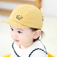 Wholesale crochet baby puppy hats for sale - Group buy 2020 hat Korean baby Cornice baby cap style children s hat spring and summer new cartoon side embroidered puppy soft eaves cap
