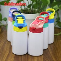 12oz 350ml Sublimation Sippy Cup Kids Travel Duckbill Pot Stainless Steel Water Bottle Portable Bounce Cup Outdoor Double Insulated Mugs A11