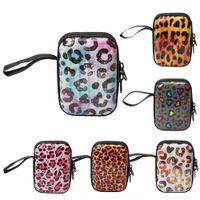 Wholesale mini elegant clutch bags resale online - Mini suitcase style leopard print small coin purse Suitcase wallet wallet simple fashion change bag New elegant accessory bag