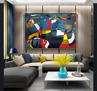 Wholesale big frame for walls resale online - Famous Picasso Abstract Oil Painting Big Canvas Pictures Wall Art for Living Room Home Decor No Frame