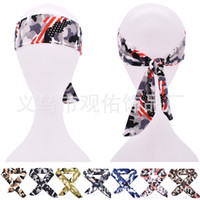 Wholesale yoga scarves for sale - Group buy Hair Bands Bandeau Cheveux Headband Head Towels Camouflage Scarf Hairlace Stars Basketball Perspiration Yoga Fitness Supplies gy C2