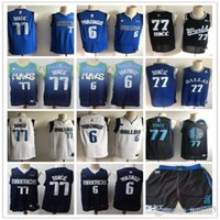 Wholesale dirk nowitzki jerseys for sale - Group buy Mens Dallas Mavericks Luka Doncic Kristaps Porzingis Dirk Nowitzki Basketball Shorts Basketball Jerseys
