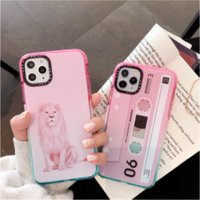 Wholesale iphone lion cases for sale – best Hot Retro Tape Animal Lion Gradient Phone Case For iPhone Pro Max XR XS X Max SE S Plus Shockproof Back Soft Cover